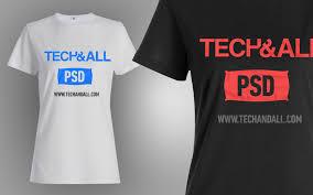 Tshirt Psd Female T Shirt Mockup V 2 Psd Tech All