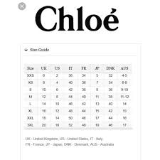 See By Chloe Size Chart