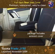 custom fit waterproof neoprene toyota prado j150 full back rear seat cover