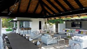 Residential Timber Design Projects Residential Thatched Outdoor Living Space On Square