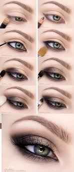 step by step smokey eye makeup tutorial gold to brown smokey eye