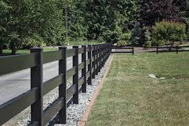Fencing Gallery Black Vinyl Fencing Black Vinyl Fences