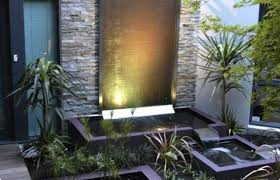 Small Picture In House Garden Waterfall Design Simple Home Garden Waterfall