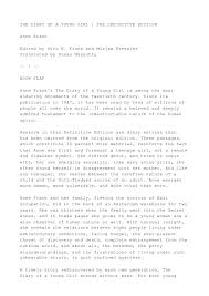 anne frank the diary of a young essay   essay topicsfinal anne frank essay essays