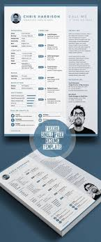 Psd Resume Template Infographic 24 CV En PSD à Télécharger Modifier Et Customiser 17