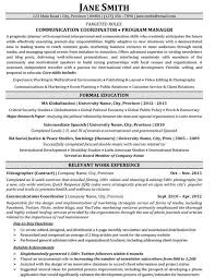 Free Resume Programs Communication Coordinator Program Manager Resume Template