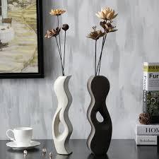 Decorative Ceramic Pitchers Creative Ceramic Detachable Flower Vase Decorative Tabletop 75