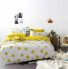 hot emoji bedding set 100 cotton interesting and fashion duvet cover for young people new year bed sheets pillowcase 3 bedding set fashion bedding