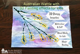 how to do an australian wattle painting for kids
