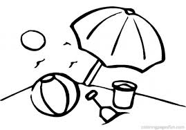 Small Picture Beach Umbrella Coloring Page Free Hello Kitty Holding Umbrella