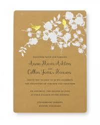 Wedding Invitatiins Print At Home Invitation Kit Gold Foil Birds Gartner Studios