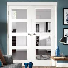 exquisite glass pane door shaker pane white primed door pair with clear safety glass