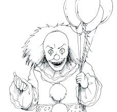 Clown Coloring Pages Circus Tent Page Evil Easy To Draw A C Free Of