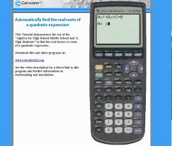 ti 83 plus ti 84 plus solve a quadratic equation find all real roots zeros