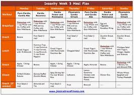 Free Insanity Meal Plan For Week 3 Insanity Meal Plans Diet