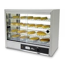 large countertop food pie en heated hot warmer cabinet showcase display