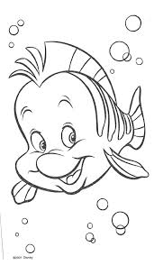 Small Picture The Little Mermaid Coloring Pages Flounder Elioleracom