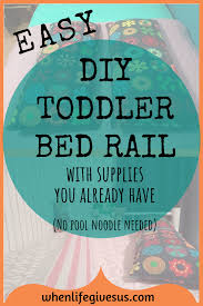 safe simple fool proof fast and easy diy toddler bed rail using supplies