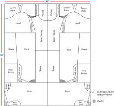 Denim Coat Pattern Layout Utilising Jigsaw Puzzle Practice