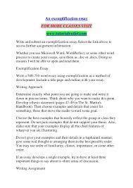 An Exemplification Essay Tutorialoutlet Dot Com