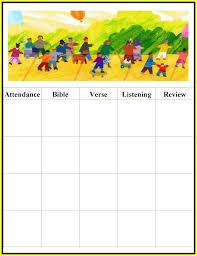 Free Printable Attendance Chart Printable Attendance Charts For Sunday School Printable Chart 21