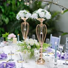 Vasen Für Hochzeitsmittelstücke Tischdekoration Blumenständer Für Hochzeit Party Empfang Herzförmige Dekoration Haupttisch Mitte Herzform 2 X Groß