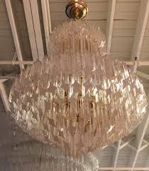 mid century italian murano glass chandelier by venini