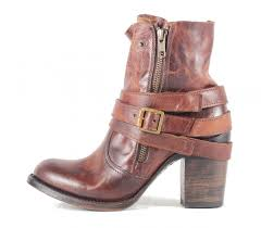 freebird by steven bama cognac leather bootie cognac