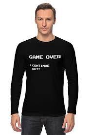 <b>Лонгслив Game</b> Over (8-bit) #654752 от coolmag по цене 2 140 ...