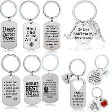 details about inspirational gift dad mom daughter keyring keychain dog tag pendant key ring