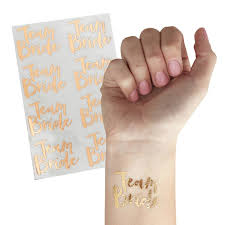 Růžovo Zlaté Tetování Team Bride