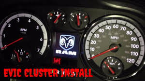 2004 Dodge Ram 1500 Instrument Cluster Lights 4th Gen 2009 2012 Dodge Ram 1500 2500 3500 Evic Instrument Panel Cluster Installation Video