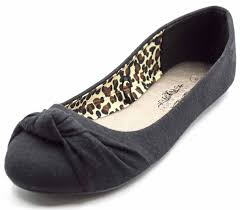 ballet flats. amazon.com | charles albert women\u0027s knotted front canvas round toe ballet flats l