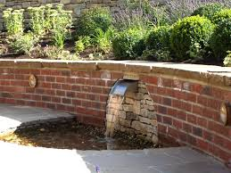 Small Picture brick garden wall designs Water Water Everywhere Pinterest