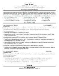 Resume Objective Retail Job Cove Examples For Sales Associate