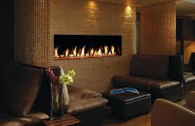 lighting majestic fireplace pilot s custom linear fireplaces design brown single sided model