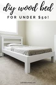 how to build a platform bed with legs