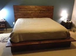 ... Rustic Natural Brown Diy Pallet Bed Frame with High Square then F  Rustic Natural Brown Diy ...