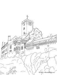 Wartburg Castle Coloring Page