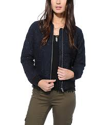 Obey Rumson Navy Quilted Bomber Jacket | Zumiez & Obey Rumson Navy Quilted Bomber Jacket ... Adamdwight.com
