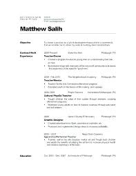 Best Objective For Resume Good Objective On A Resume Teaching