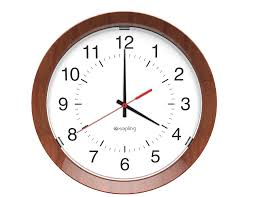 sam wired analog clocks analog wired clock systems by sapling sapling analog round 45 degree angle dial s hands s wooden frame