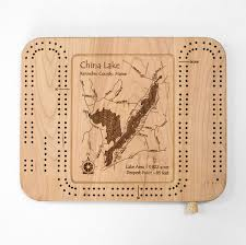 Amazon Com Somo Lake Lincoln County Wi Cribbage Board