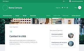 Web Page Design Models A Model Website For Italian Municipalities Team Per La