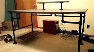 full size of diy l shaped desk reddit black pipe and concrete desktop build your own