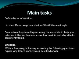 what techniques were used in trench warfare learning objective  12 main