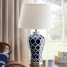 chinese blue ceramic table lamp for restaurant living bedroom decorated table lights vase white lamps ceramic c38