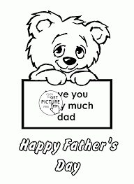 Small Picture Fathers Day Card coloring page for toddlers holidays coloring