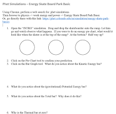 Energy Bar Charts Physics Day 104 Energy Skateboard Park Bc Physics 180