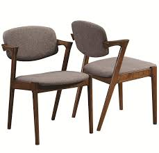 amazon coaster 105352 home furnishings side chair set of 2 dark walnut chairs